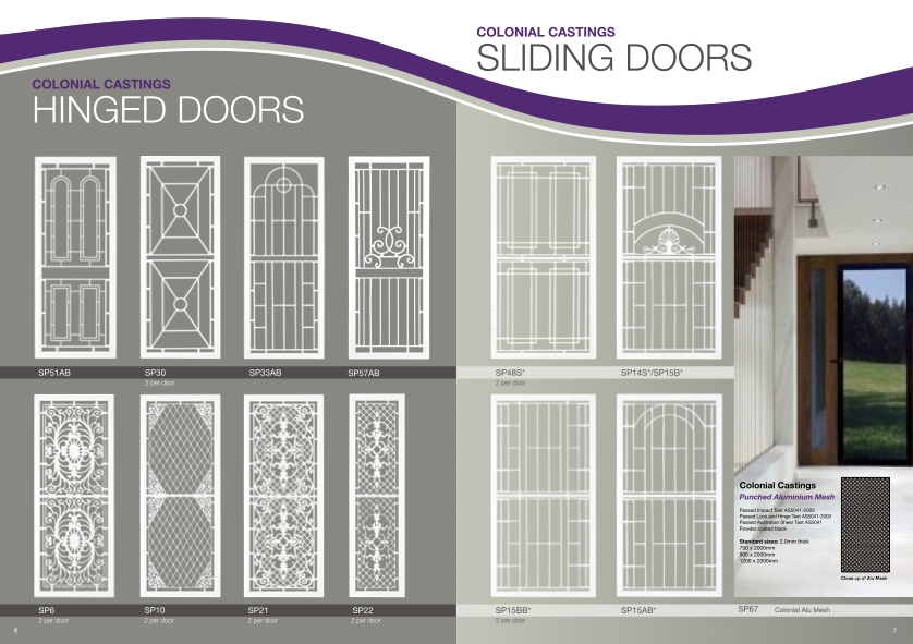 Safety Screen Doors Amp Grills From Colonial Castings